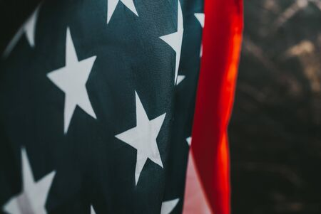 American flag close-up. event in America background