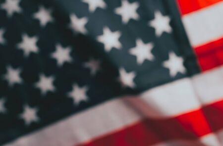 American flag in blur mode. Patriotic background