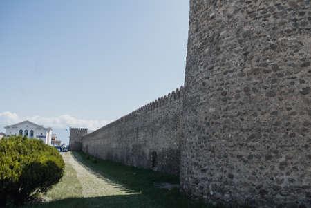 ancient walls of the old city. Georgian ruins