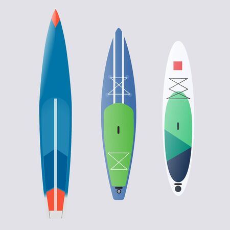 brand boards for standing rowing, paddleboards vector