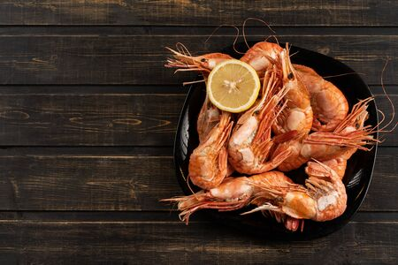 Bothan shrimp delicious king size shrimp tige with lemon