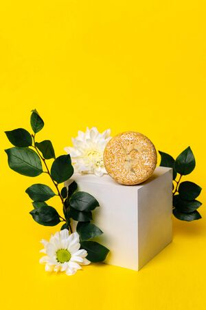solid shampoo with the smell of flowers