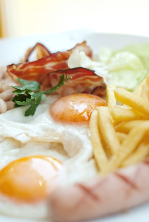 beautiful english breakfast Stock Photo