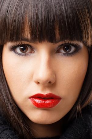 beautiful close portrait of young women Stock Photo - 12665760