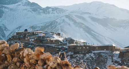 Caucasian village Khinalug, Azerbaijan