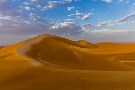 Her majesty the Rub'al Khali Desert aka The Empty Quarter after the rain early morning, Abu Dhabi, United Arab Emirates