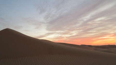 Sunrise in the desert of Rub al Khali aka Empty Quater