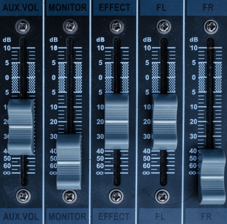 fader: buttons equipment for sound mixer control