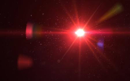 Abstract digital lens flare light