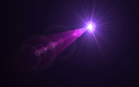 Abstract Design Nature lens flare and black background