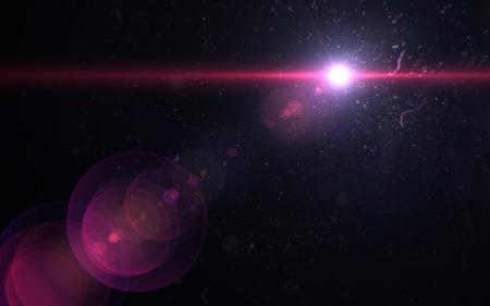 Abstract image of sun burst lighting flare