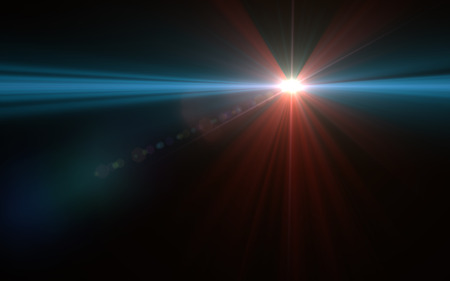 Abstract speed lens flare and light on space Stock Photo - 80408646