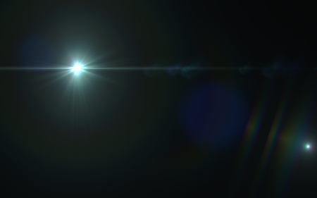Abstract digital lens flare light