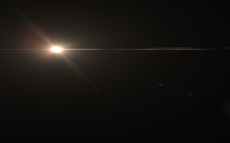 Abstract Lens Flare dusty with black background 免版税图像