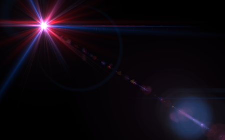 ring flash: Design abstract natural lens flare in space. Rays background Stock Photo
