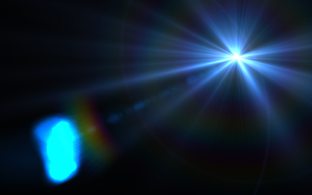 Abstract Design natural lens flare in space. Rays background Stock Photo
