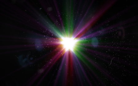 Bueatiful Abstract digital lens flare light with colorful light Stock Photo