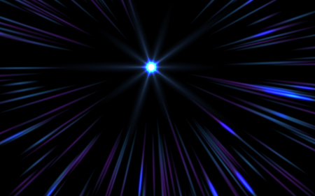 spotlight: Abstract speed lens flare on black background Stock Photo