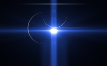 Illuminazione astratta con digital lens flare.Lens flare con polvere su sfondo nero Archivio Fotografico - 91317134