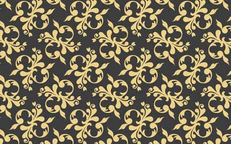 Abstract gold luxury pattern design illustration. Ornate pattern art. Golden ornament decoration pattern