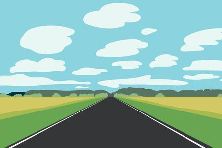 nature landscape with road.Nature scene with sky background.Scene with Empty Road