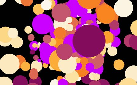 Abstract colorful circle pattern background design.Creative shape decoration.