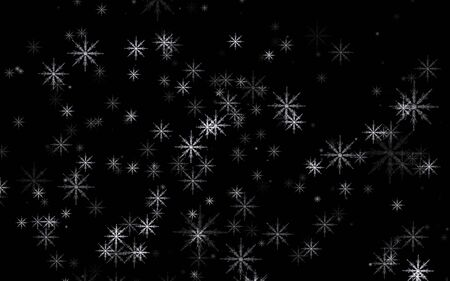 Abstract beautiful black and white snowflake glowing.Winter snowflakes design background Zdjęcie Seryjne