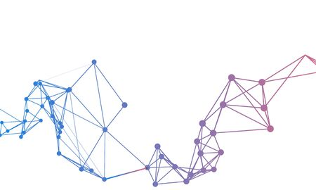 Technology abstract background with connected line and dots. Analytical networks.Internet connection technology concept. Cloud computing. Vector illustration