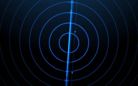 Blue ripple lines background.Technology Network light  concept