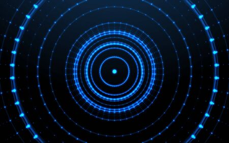 Abstract digital technology background.Futuristic glowing circle background 写真素材