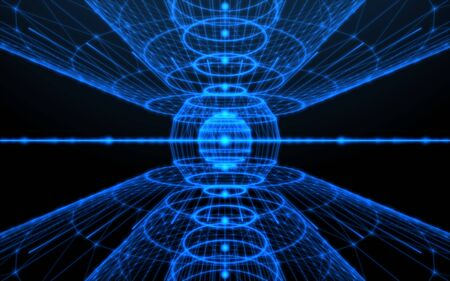 Abstract ntework lines design.Blue technology lines background