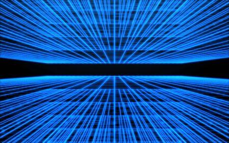 Speed blue lines background.Futuristic digital light lines background
