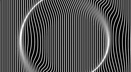 Abstract black and white lines art pattern background.Displacement map texture background.Ripple vertical lines illustration 写真素材