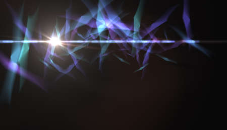 Lighting Abstract  with digital lens flare texture background.Beautiful flare with color shape bokeh Stok Fotoğraf
