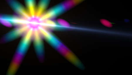 Abstract color flare light.Digital lens flare sparkle on space.Glowing spectrum light