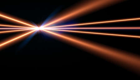 Abstract Digital lens flare in black background.Abstract shine nature Flare light horizontal Stok Fotoğraf