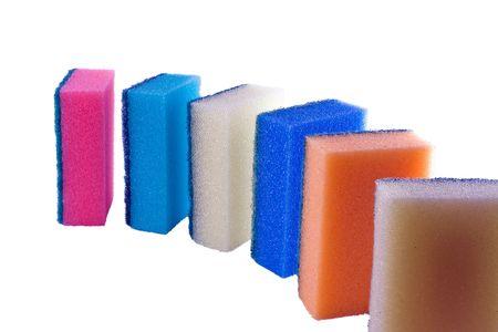 Lot of color sponge photo