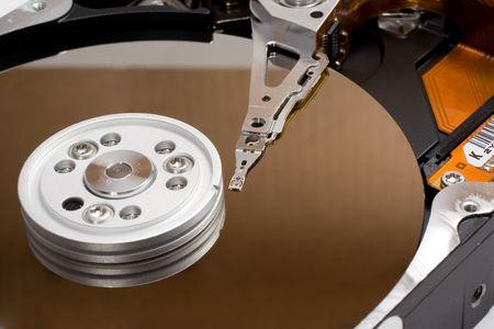 Open computer hard driver photo