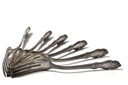 tine: vintage silver fork