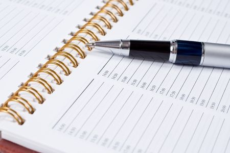 Still-life of pen with a notebook. Stock Photo - 6263440