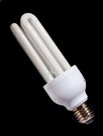 energy saving lamp isolated on black photo