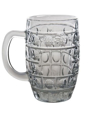 beer glass isolated on a white  photo