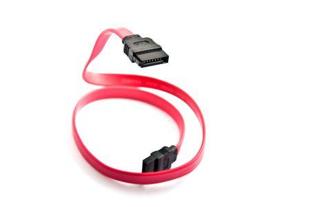 sata: SATA interface cable  Stock Photo