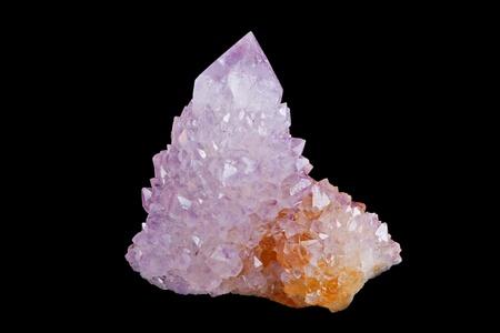 gemology: Crystal Ametista  Archivio Fotografico