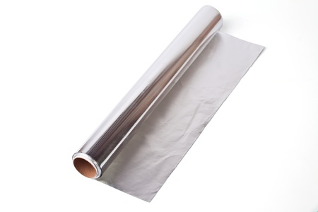 foil: Roll of aluminium  foil Stock Photo