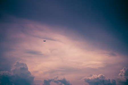 natural background with airspace and dramatic sky Stock fotó