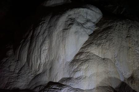 Underground caves of Abkhazia. Stalactites and stalagmites in New Athos.