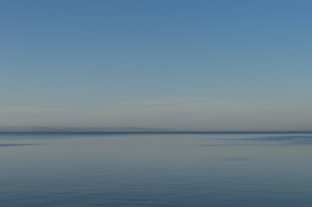 Seascape with Pacific blue ocean. For design and networking.