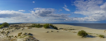 Sea landscape of the Baltic sea with coastal sand dunes of the Curonian spit. beauty of nature