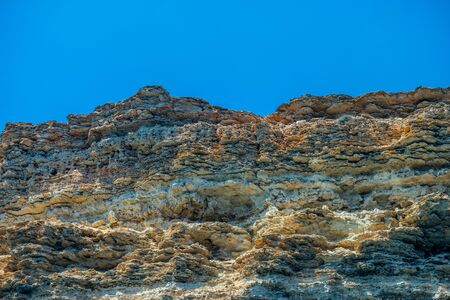 Natural scenery. View of the rocks against the blue sky. 写真素材 - 133344522
